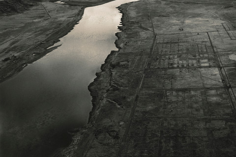 Emmet Gowin, Old Hanford City Site and the Columbia River, Hanford Nuclear Reservation, near Richland, Washington, 1986