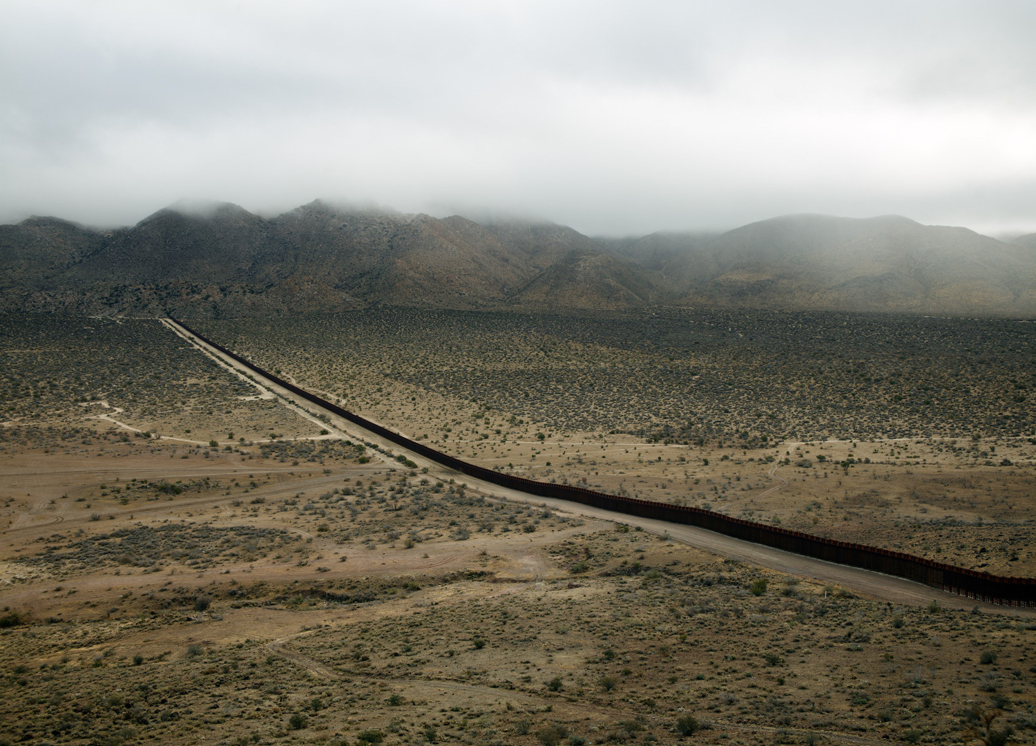 Richard Misrach, The Wall #1, Jacumba, CA, 2009
