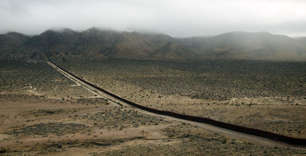 Richard Misrach, The Wall #1, Jacumba, CA, 2009