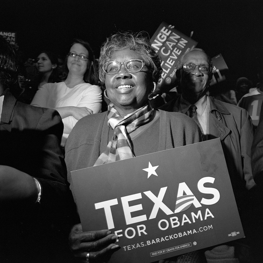 Larry Fink, Barack Obama, TX, 2008