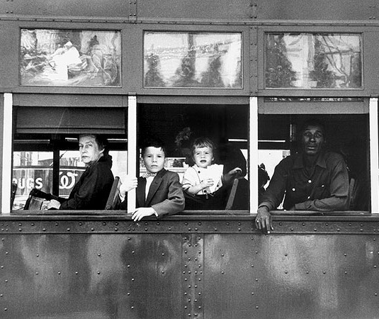 Robert Frank, Trolley - New Orleans, 1955-1956