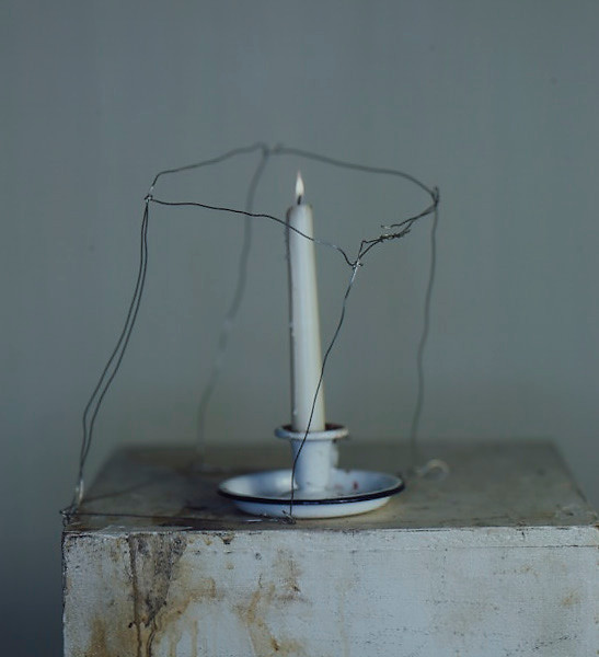 Richard Learoyd, Candle with armature on plinth, 2019