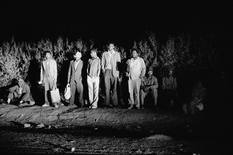 David Goldblatt, 2:40 am. Going to work: Mathysloop, KwaNdebele, 1984