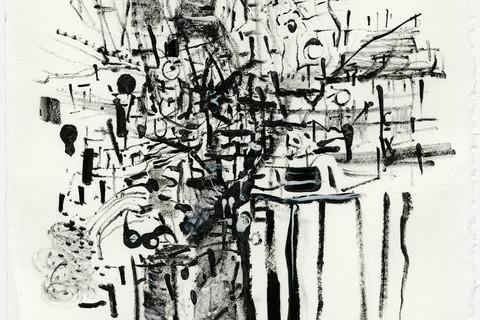William Christenberry, Tree ink Dartmouth, Sunday, January 19, 2003