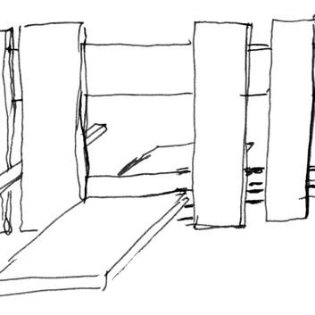 David Byrne, Constructivist Fence, 2004