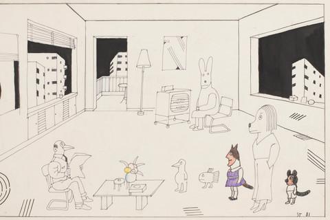 Saul Steinberg, Untitled, 1981