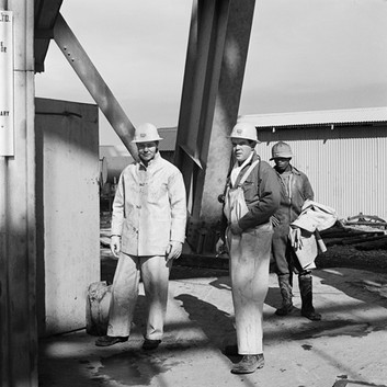 David Goldblatt, On the bank, President Steyn No.4 shaft, Welkom. , June 1969