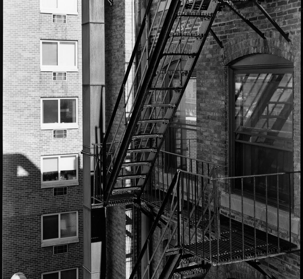 Nicholas Nixon, View behind Bowdoin Street, Boston, 2009