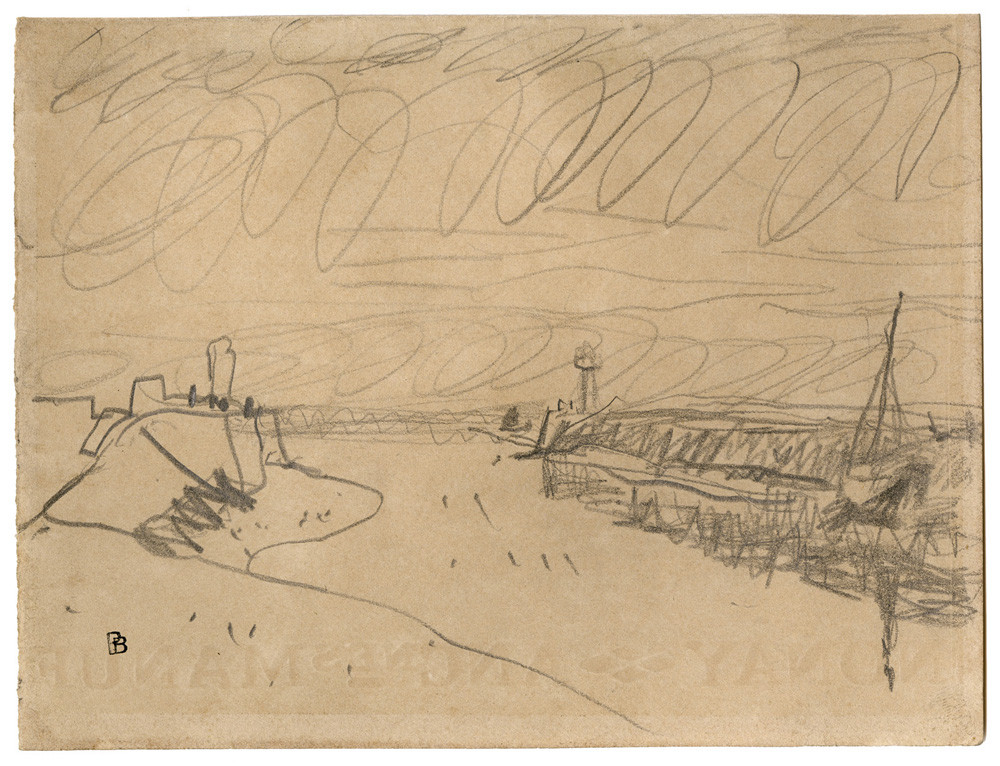 Pierre Bonnard, Deauville l'embouchure de La Touque, c. 1936