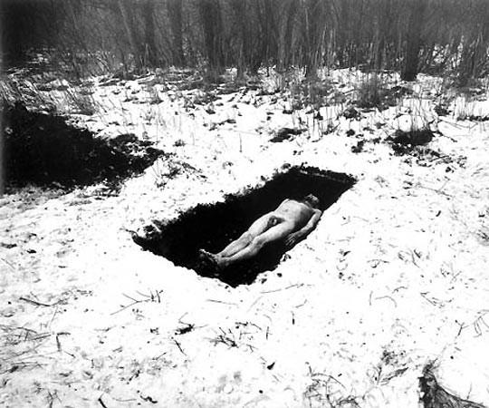 Dieter Appelt, Schneeloch (Hole in the Snow), from Erinnerungsspru (Memory's Trace), 1977-79