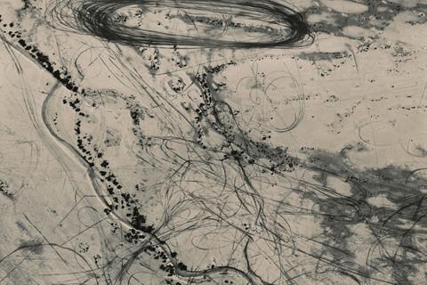 Emmet Gowin, Off Road Traffic Pattern along the Northwest Shore of the Great Salt Lake, Utah , 1988