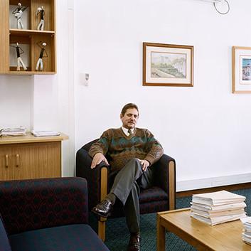David Goldblatt, Nico Nel, Manager of the Breede River Winelands Municipality, Ashton, Western Cape., 22 July 2004