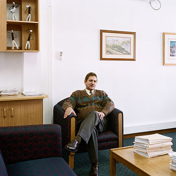 David Goldblatt, Nico Nel, Manager of the Breede River Winelands Municipality, Ashton, Western Cape., 22 July 2004