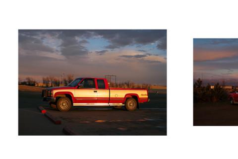 Paul Graham, North Dakota (Moonrise at Garage), 2005