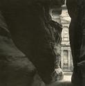 Emmet Gowin, El Khazneh From the Siq, Petra, Jordan, 1985