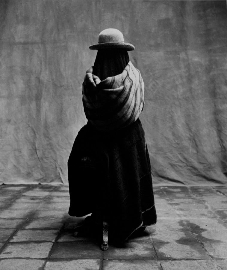 Irving Penn, Girl in a Manta, Cuzco, 1948