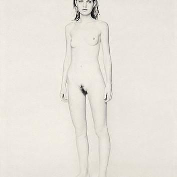 Paolo Roversi, White nude portrait of Guinevere V, Paris, 1996