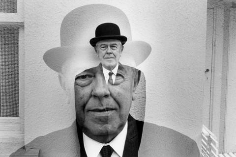 Duane Michals, Rene Magritte in Bowler Hat (Multiple Exposure), 1965