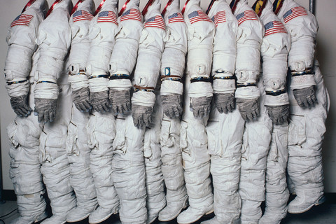 Hiro, Apollo Spaceflight Training Suits, Houston, Texas, June 27, 1978
