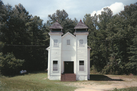 William Christenberry, Church, Sprott, Alabama, 1977