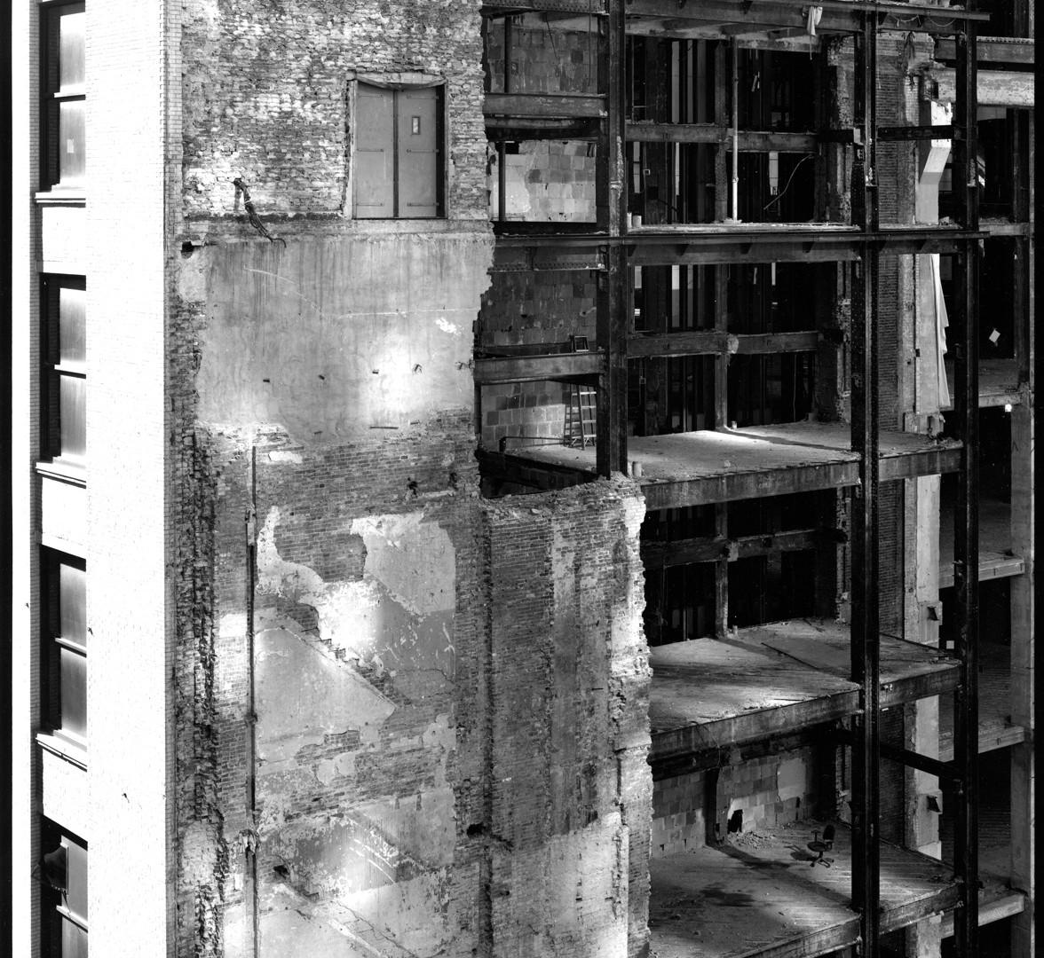 Nicholas Nixon, View of Filene's Demolition, Boston, 2008