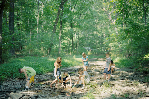 Judith Joy Ross, Children in Neshaminy Creek, Wildlife Camp, The Aark Foundation Wildlife Rehabilitation and Education Center, Chalfont, Pennsylvania, 2011