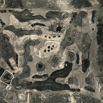 Emmet Gowin, Golf Course Under Construction, Arizona, 1993