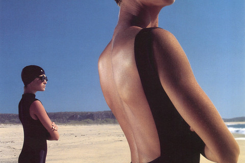 Hiro, Black Bathing Suits, Manzanillo, Mexico, 1985