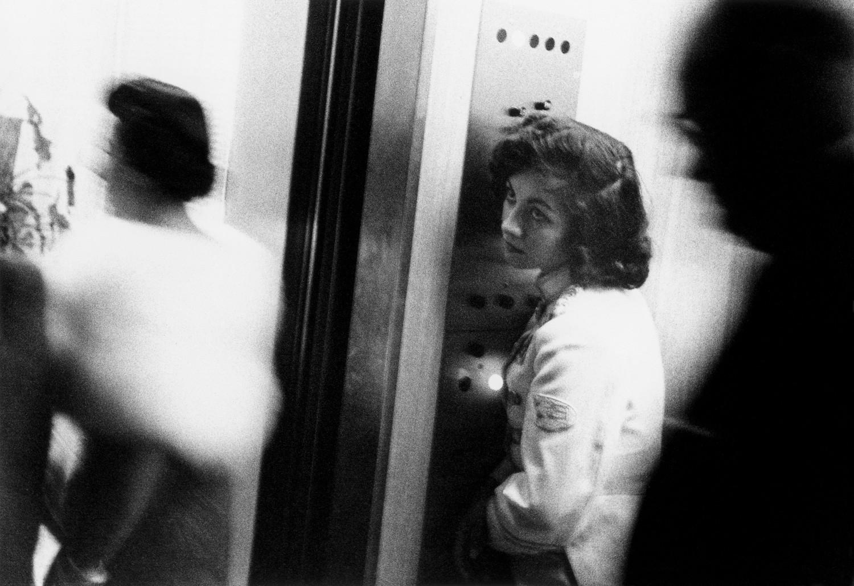 Robert Frank, Elevator - Miami Beach, 1955