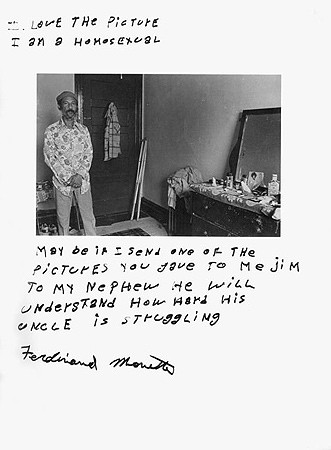 Jim Goldberg, Untitled (I love the picture ...), 1977