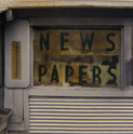 William Christenberry, New Papers, 18th Street, NW, Washington D.C., 1972