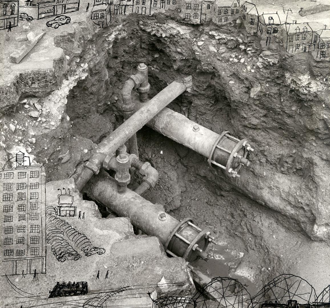 Saul Steinberg, Excavation, 1952