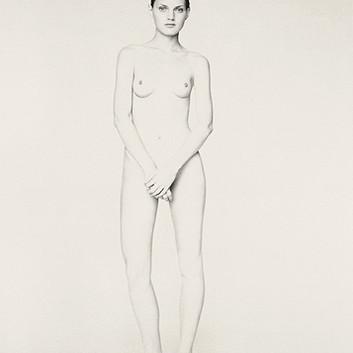 Paolo Roversi, White nude portrait of Guinevere II, Paris, 1996