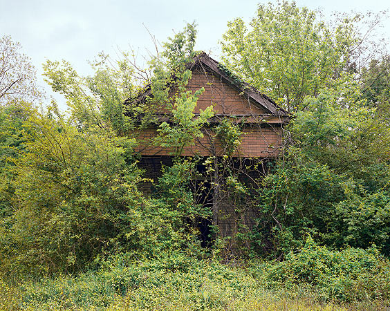 William Christenberry, Building with False Brick Siding, Warsaw, Alabama, 1991