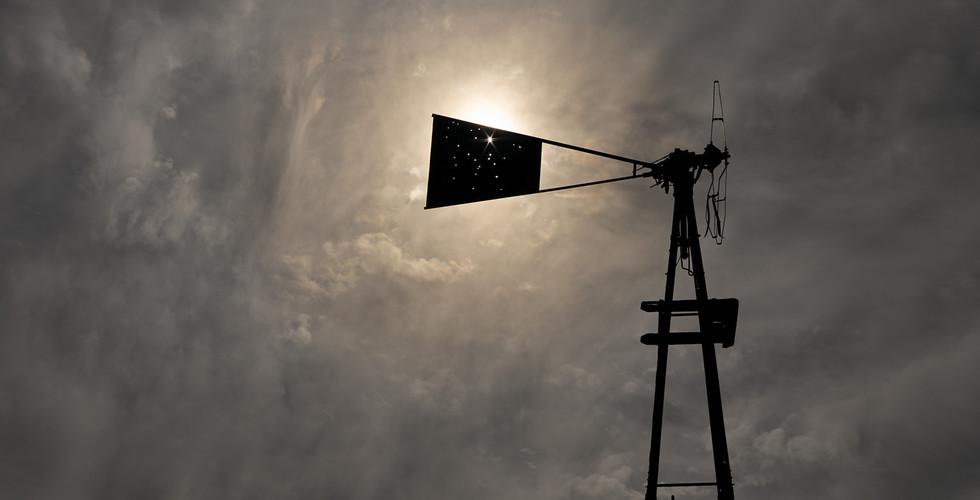 Mark Klett, Abandoned windmill, Bates Well, Cabeza Prieta, 2013