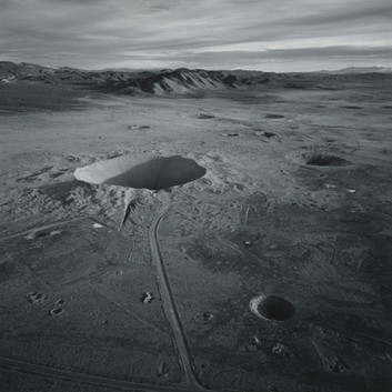 Emmet Gowin, Sedan Crater, Northern End of Yucca Flat Looking South, Area 10, Nevada Test Site, 1996