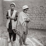 "Fazal Sheikh, Osman and Farid, blind qari (""one who knows the Koran by heart"") brothers, Afghan refugee village, Nasirbagh, North Western Frontier Province, Pakistan, 1997"