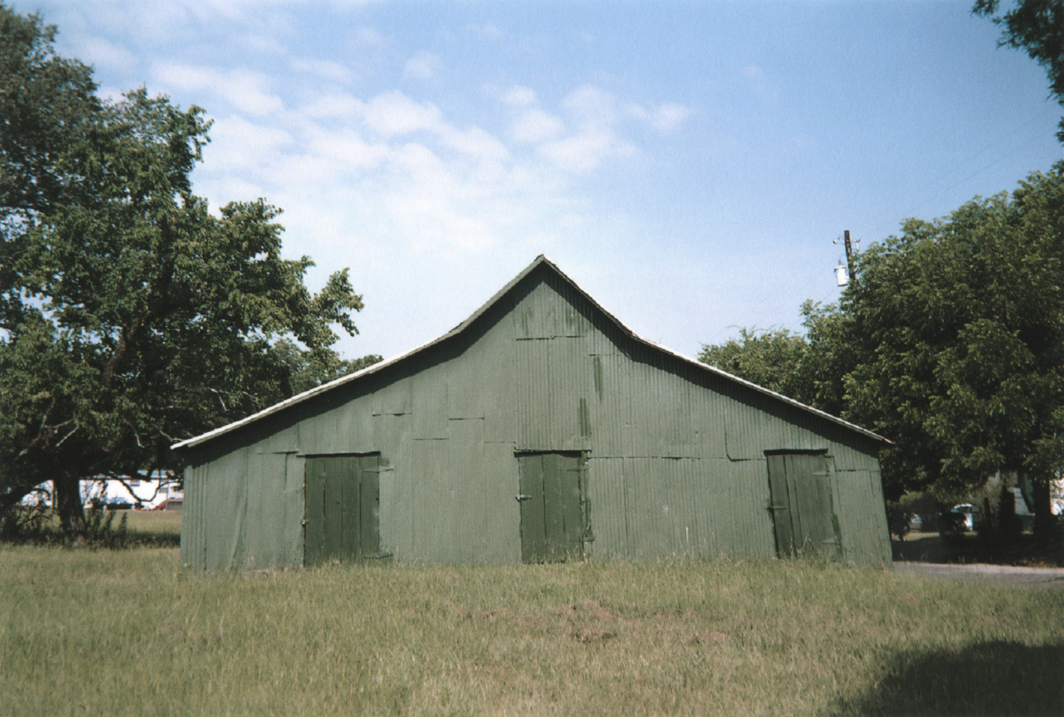 William Christenberry, Green Warehouse, Newbern, Alabama, 2000