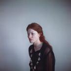 Richard Learoyd, Katie Black Dress with Eyes, 2014