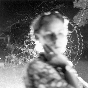 Emmet Gowin, Edith and Moth Flight, 2002