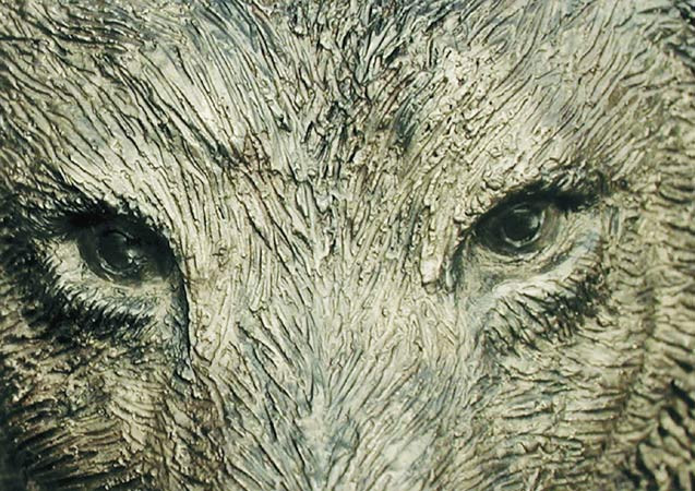 Kiki Smith, Bronze Wolf, 2000