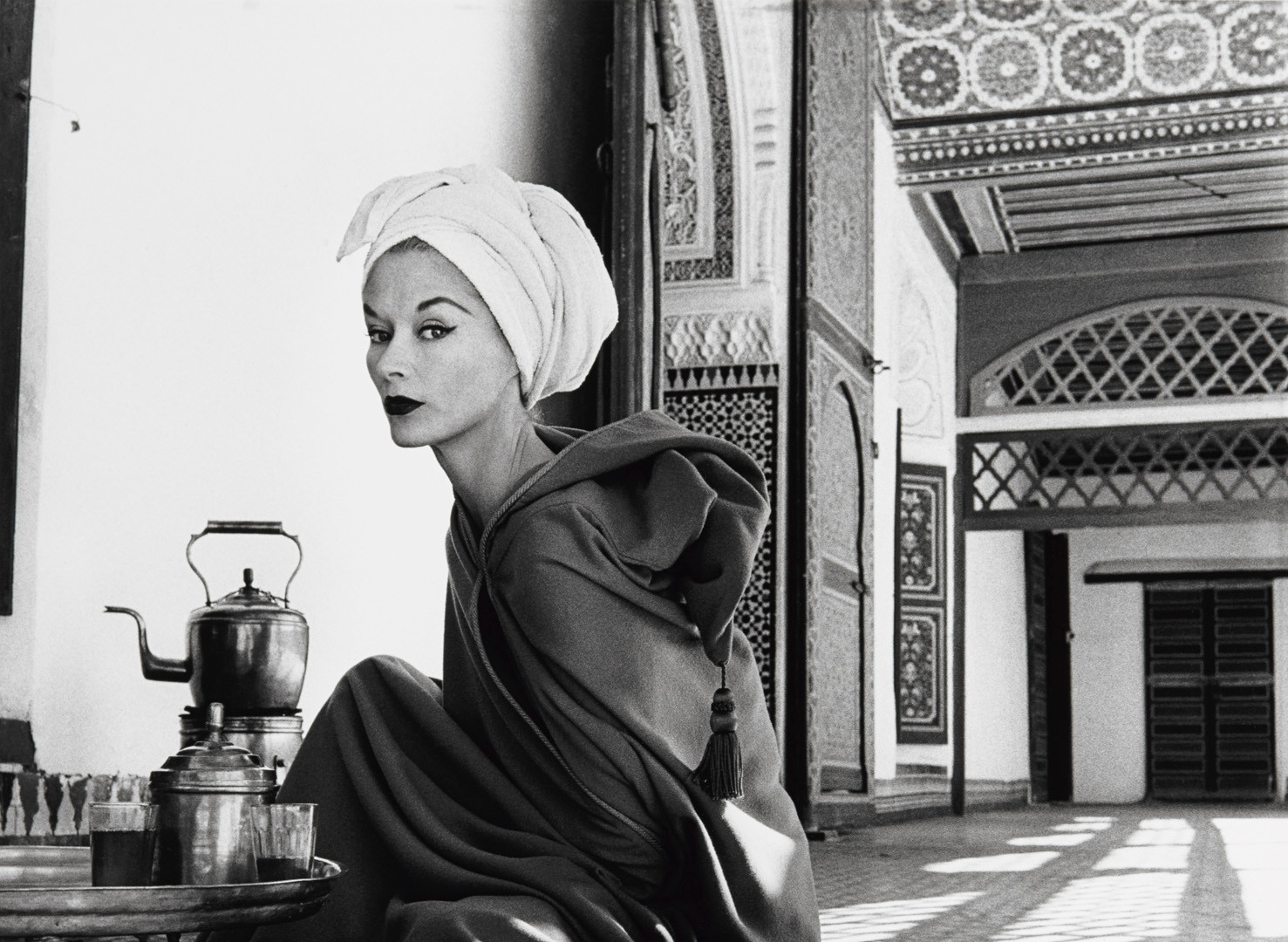 Irving Penn, Woman in Moroccan Palace (Lisa Fonssagrives-Penn), Morocco, 1951