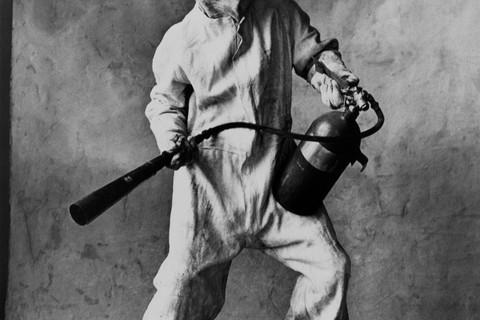 Irving Penn, Steel Mill Fire Fighter, New York, 1951