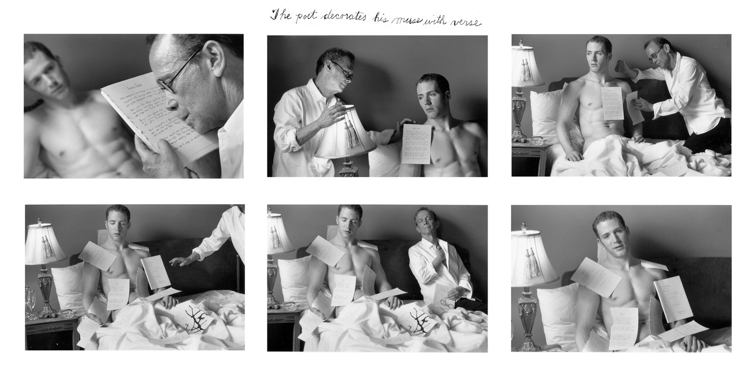 Duane Michals, The Poet Decorates his Muse with Verse, 2003-5