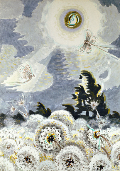 Charles Burchfield (1893-1967), Dandelion Seed Heads and the Moon, 1961-65