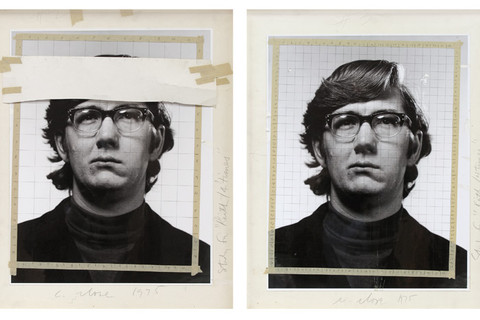 Chuck Close, Study for Keith/4 Times, 1975