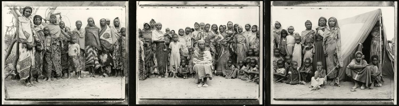 Fazal Sheikh, Gabbra tribal matriarch with women and children, Ethiopian refugee camp, Walda, Kenya, 1997
