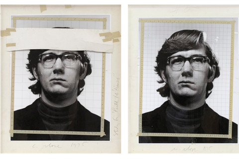 """Chuck Close, Study for """"Keith""""/4 times, 1975"""