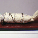 William Christenberry, Klan Doll (with barbed wire), 2001