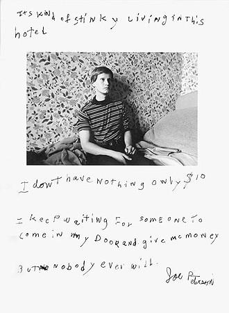 Jim Goldberg, Untitled (It's kind of stinky ...), 1984